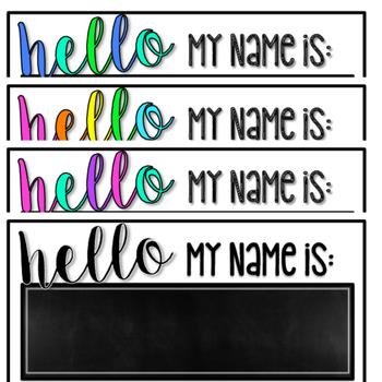 """Hello My Name Is"" Student Name Plates *Editable*"