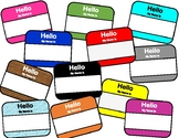 """Hello My Name Is"" Name Tags"