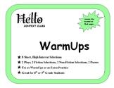 """""""Hello Reading"""" Context Clue WarmUps"""