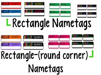 'Hello my name is' Name-tags (EDITABLE)