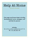 """Help At Home"" One-Page Practice Sheets for LOTS of Speech Sounds!"