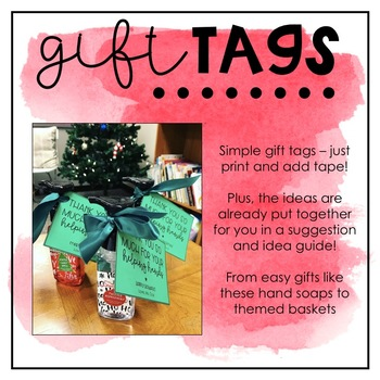 Holiday/End of Year Gift Tags for Multiple Gift Ideas