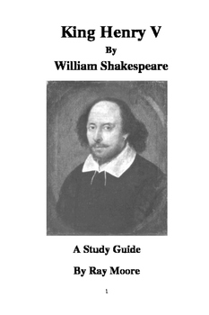 """""""Henry V"""" by Shakespeare: A Study Guide"""