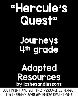 """""""Hercules Quest"""" Adapted Resource for Grade 4 Journeys Lesson 18"""