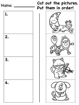 """Hey Diddle Diddle"" Differentiated Literacy Activities [no prep!]"