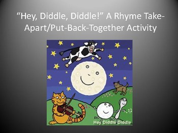 """""""Hey, Diddle, Diddle"""" Rhyme Reconstruct Activity w/ Bonus Phonemic Awareness"""