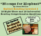 """Hiccups for Elephant"" 'Read to Self' 'Read to Buddy' guided questions"