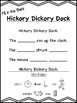"""""""Hickory Dickory Dock"""" Differentiated Literacy Activities [no prep!]"""