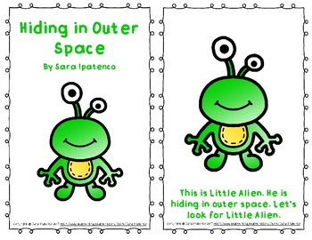 """Emergent Easy Reader Book: """"Hiding in Outer Space"""""""