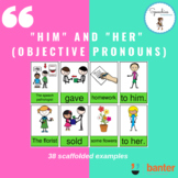 """""""Him"""" and """"Her"""" Sentence Builders (Objective Pronouns)"""