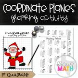 SANTA Hit the Folk Dance: Coordinate Plane Graphing Activity! (Quadrant 1)