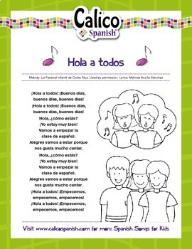 ¡Hola a todos! - Music Video & Activities Pack to teach greetings in Spanish