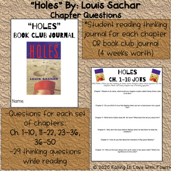 """Holes"" Book Club Thinking Questions"