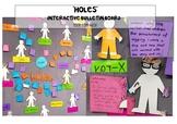 'Holes' Interactive Reading Bulletin Board