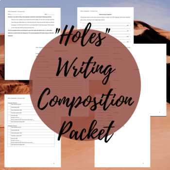 """Holes"" Writing Composition Packet"