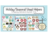 {Holiday/Seasonal Visual Helpers} Sequencing, Retell, Narration