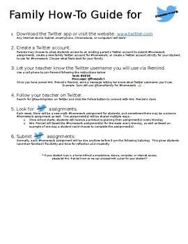#Homework Info for Families - editable