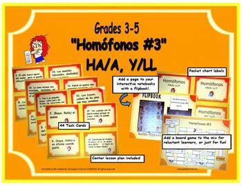 """""""Homófonos #3"""" -  HA/A, Y/LL"""