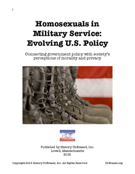"LGBT U.S. History - ""Homosexuals"" in Military Service: Evo"