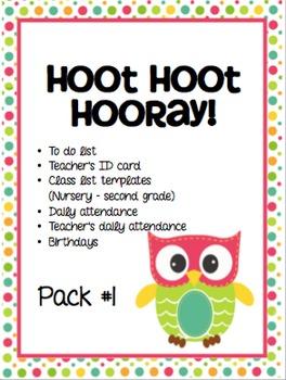 """""""Hoot Hoot Huray!"""" Back to School Pack"""