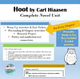 """""""Hoot"""" by Carl Hiaasen - Complete Novel Guide - printable BUNDLE"""