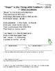 """Hope is the Thing with Feathers"" by Emily Dickinson Analysis Worksheet"
