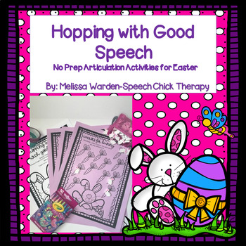 """""""Hopping Along with Good Speech"""" No Prep Articulation Act. #APR17SLPMUSTHAVE"""