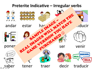 """""""Hormigas"""" Low-Prep Spanish Conjugation Game: Imperfect Mixed Regular Verbs"""