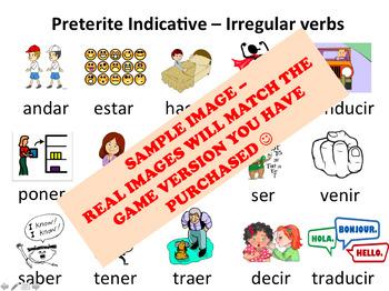 """Hormigas"" Low-Prep Spanish Conjugation Game: Preterite Common Irregular Verbs"