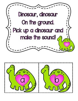 """""""How Do Dinosaurs Say I Love You"""" Circle Time Activities"""