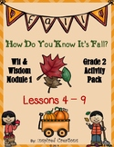 """""""How Do You Know It's Fall? """" Activity Packet (Wit & Wisdom Grade 2, M1 L4 - 9 )"""
