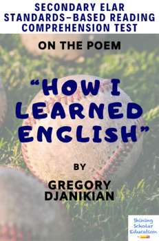 """""""How I Learned English"""" Poem by Gregory Djanikian Reading Test"""