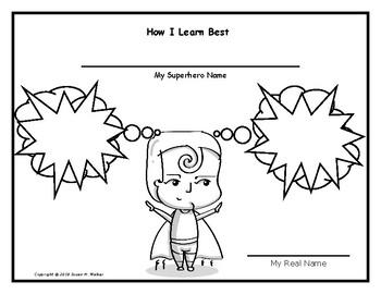 """How I Learn Best"" Visual Activity - Superhero Themed!"