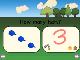 """""""How Many Hats?"""" A 0-10 Counting and Number Writing Lesson."""