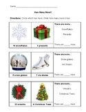 """""""How Many More?"""" Holiday Worksheet"""