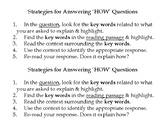"""""""How Question"""" Strategy Visual"""