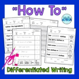 """""""How To"""" Differentiated Writing for students with autism"""