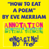 """How To Eat a Poem"" by Eve Merriam Poetry Study"