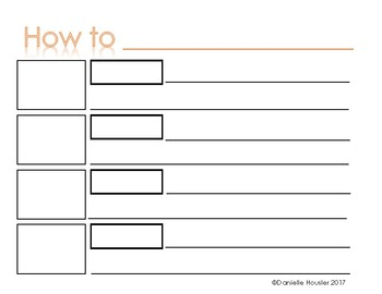 """""""How-To"""" Graphic Organizer and Rubric"""