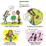 """How To Make Friends"" Poster Art & Printable"