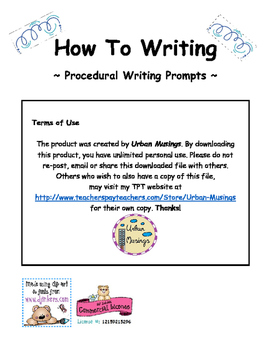 """How To"" - Procedural Writing"