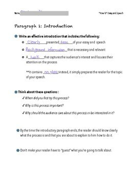 """How To"" Project - Presentation & Short Essay"