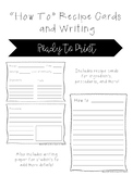 """""""How To"""" Recipe Cards and Writing"""