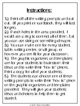 """""""How To"""" Writing Task Cards...and MORE"""
