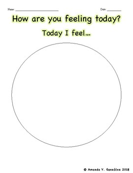 """""""How are you feeling today?"""" Activity"""