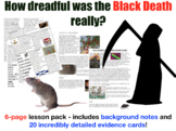 Black Death - 6-page full lesson (notes, card sort)