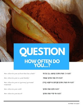 """""""How often do you"""" Adverbs of Frequency Pattern English (w Korean translation)"""