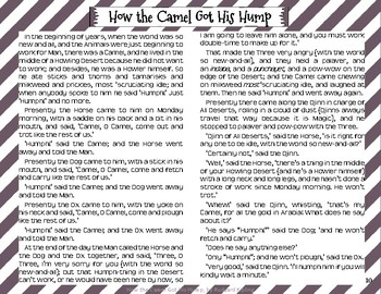"""How the Camel Got His Hump"" Just So Stories with Depth and Complexity"