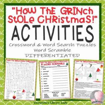 How The Grinch Stole Christmas Book Pdf.How The Grinch Stole Christmas Activities Crossword And Word Searches