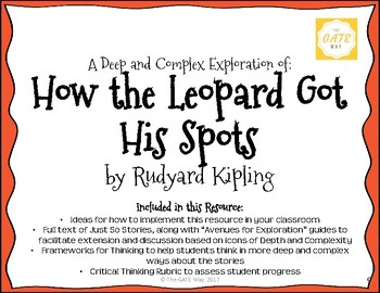 """How the Leopard Got His Spots"" Just So Stories with Depth and Complexity"